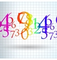 Abstract color number background vector