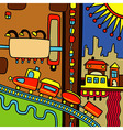 Hand draw city abstract composition vector