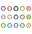 Shield icon buttons set vector