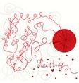 Knitting card vector