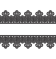 White background with black lace border frame vector