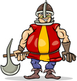 Knight with axe cartoon vector