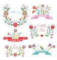 Floral banners for life events vector
