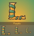 Halloween decorative alphabet - l letter vector