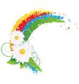 Chamomiles and rainbow vector