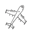 Airplane hand drawn vector