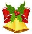 Christmas bell with bow vector