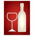 Paper cut frame stylized as wine bottle vector