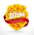Autumn emblem vector
