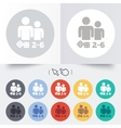 Board games sign icon 2-6 players symbol vector