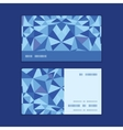 Blue triangle texture horizontal stripe frame vector