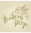Shop baking hand made vector