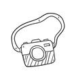 Camera hand drawn vector