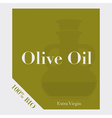 Olive oil label vector