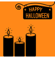 Happy halloween candle card vector