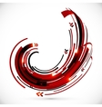 Abstract red and black techno arrows frame vector
