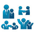 Collection of office workers and business t vector