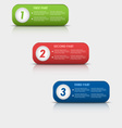 Options progress of colored rectangular buttons vector