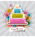 Birthday background with cake vector