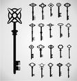 Antique keys vector
