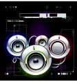 High tech speakers vector