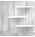 Blank white wooden bookshelf  eps10 vector