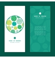 Abstract green circles vertical round frame vector