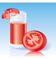 Fresh tomato juice vector