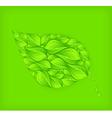 Green leaf green background vector