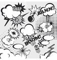 Pop art comic background vector