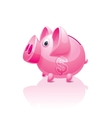 Piggy bank with dollar sign vector