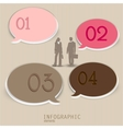Set of bubbles stickers labels tags numbered vector