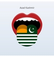 Azad kashmir language abstract human tongue vector