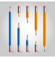 Short and long pencil set vector