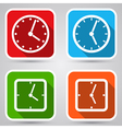 Clock icons collection vector