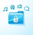 Secure multimedia folder vector