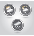 Set of stylish weather icon buttons for web vector