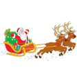 Sleigh of santa claus vector