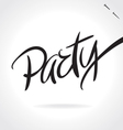 Party hand lettering vector