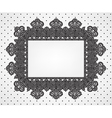 Vintage frame on dot pattern vector