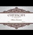 Certificate of achievement vector