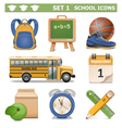 School icons set 1 vector