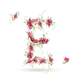 Floral letter e for your design vector