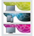 Collection banner design with smart phone tablet vector