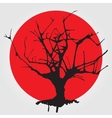 Old tree in chinese style vector