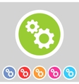 Gear settings flat icon vector