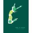 Abstract green circles jumping girl vector