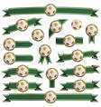 Football ribbons vector