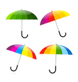 Colorful umbrellas set vector
