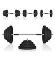 Set of dumbbells weights vector
